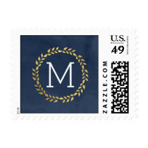Grad Initial EDITABLE COLOR Graduation Postage