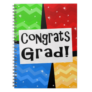 Grad Multicolor Graduation Party Guest Book Memory Spiral Notebook