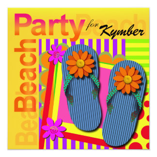 Grad Night Summer Fun Flip Flops - Beach Party! Card