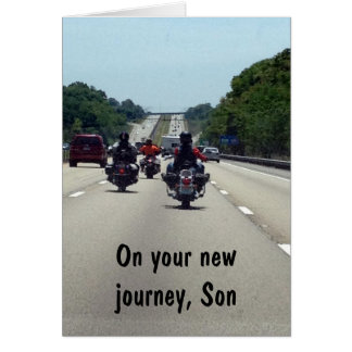 GRAD-ON YOUR NEW JOURNEY SON FROM SINGLE PARENT CARD