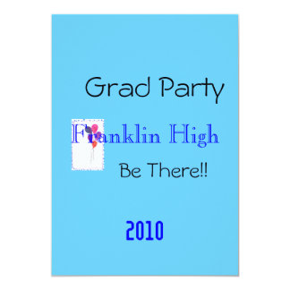 """Grad Party Invite 5"""" X 7"""" Invitation Card"""