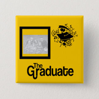 Grad Photo BUTTON-- choose COLOR Pinback Button