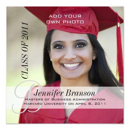 Grad Photo Graduation Announcement