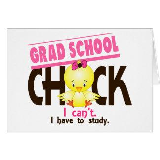 Grad School Chick 1 Greeting Card