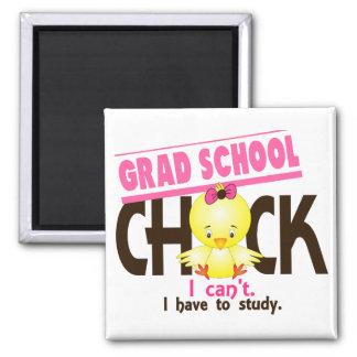 Grad School Chick 1 2 Inch Square Magnet