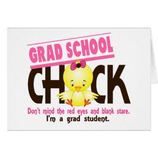 Grad School Chick 2 Greeting Card