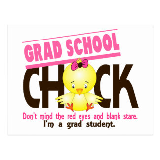 Grad School Chick 2 Postcard