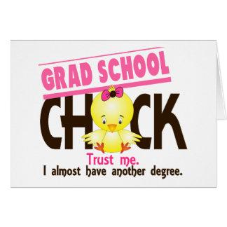 Grad School Chick 3 Greeting Card
