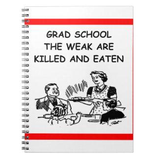 grad school spiral notebook