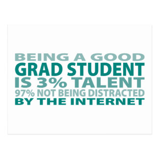 Grad Student 3% Talent Postcard