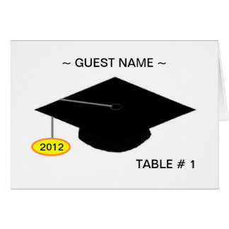 Grad Table # Place Card