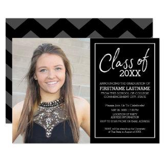 Grad Trendy Graduation Photo Announcement