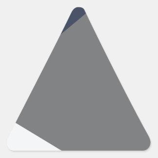 Grada gris de la forma tres del triángulo de pegatina triangular