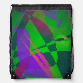 Gradación abstracta púrpura y verde de la composic mochilas