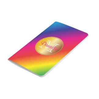 Gradación colorida viva del espectro del arco iris cuaderno