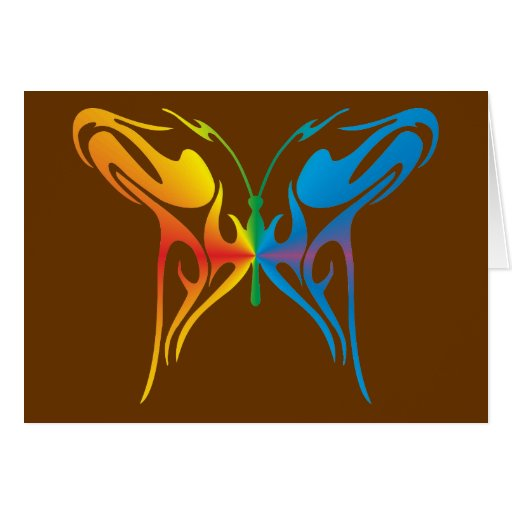 Gradated Butterfly Greeting Card