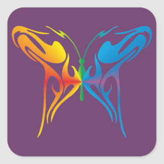 Gradated Butterfly Square Sticker