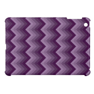 Gradated Purple Chevron Striped iPad Mini Case