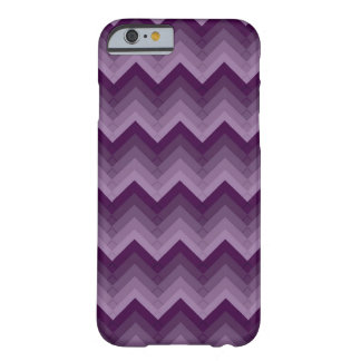 Gradated Purple Chevron Striped iPhone 6 Barely There iPhone 6 Case