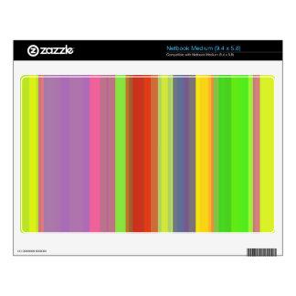 Gradation Stripes Yellow Medium Netbook Decals