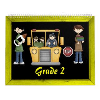 Grade 2 Memories Book Calendar