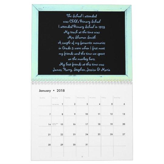 Grade 3 Memories Book Calendar