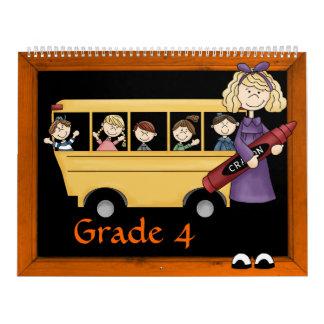Grade 4 Memories Book Calendar