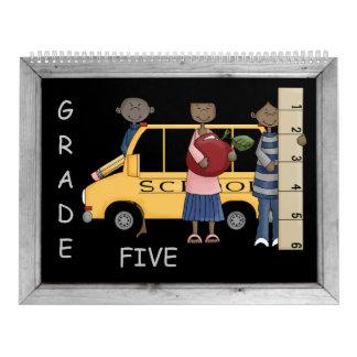 Grade 5 Memories Book Calendar