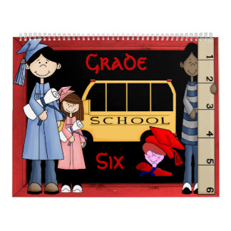 Grade 6 Memories Book Calendar