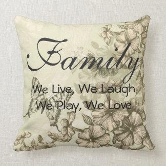 Grade A Cotton Throw Pillow 20x20/Family