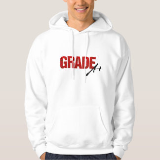 Grade A+ Hoodie (white/red)