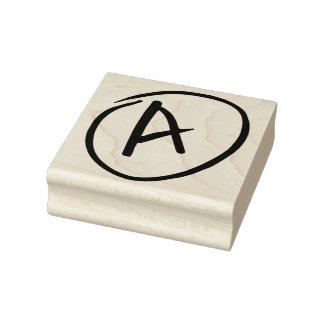 Grade A in Circle Handwritten Rubber Art Stamp
