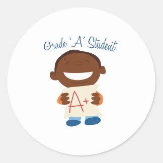 Grade A Student Classic Round Sticker