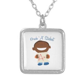 Grade A Student Square Pendant Necklace