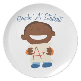 Grade A Student Plates
