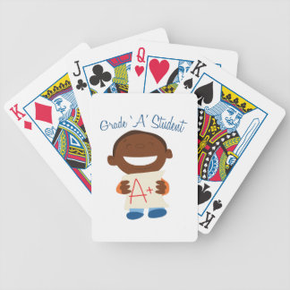 Grade A Student Bicycle Playing Cards