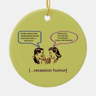 Grade School Shakedown Recession Humor Ornament