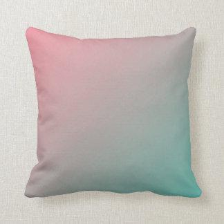 Gradient: Aqua to Salmon Throw Pillow