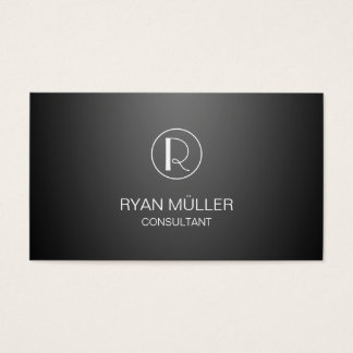 Gradient Background Professional Chic and Monogram Business Card