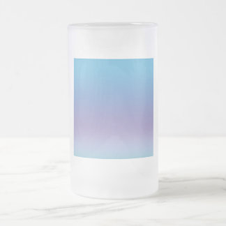 Gradient Blue and Purple Frosted Glass Beer Mug