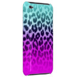 Gradient Blue Pink Cheetah Leopard Print Barely There iPod Cases