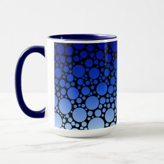 Gradient Blue Polka Dots Mug