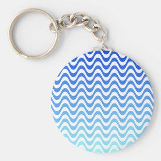 Gradient Blue Waves Keychain