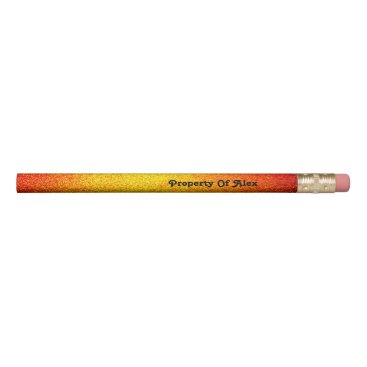 Beach Themed Gradient Burning Pencil