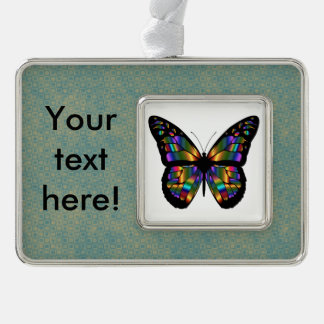 Gradient butterfly cartoon christmas ornament