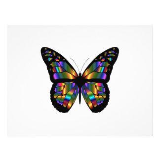 Gradient butterfly cartoon flyer
