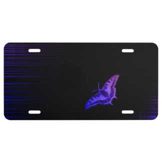 Gradient Butterfly License Plate