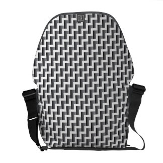 Gradient Chevron Stripes Messenger Bag