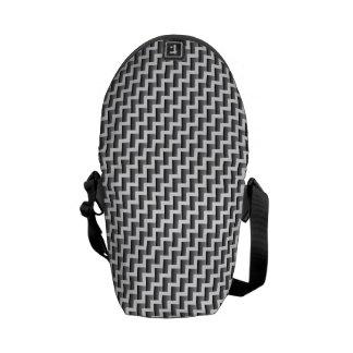 Gradient Chevron Stripes Mini Messenger Bag