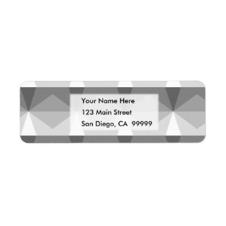 Gradient Cube  Grey to White Return Address Label